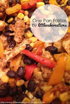 Little Oak Creations: Search results for one pan fajitas Lunch Recipes, Dinner Recipes, Healthy Recipes, Meal Recipes, Drink Recipes, One Dish Dinners, One Pan Meals, Large Family Meals, Large Families