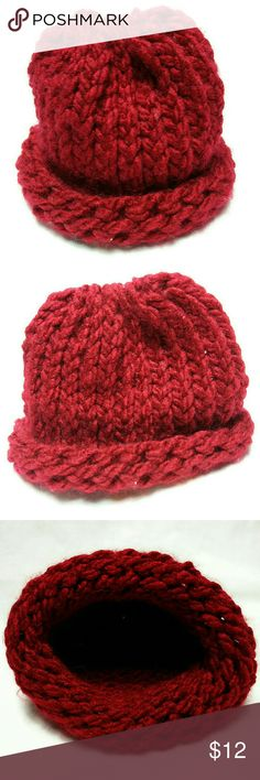 Baby Infant Red Wool Knit Cap Baby Infant preemie wool knit cap. Red color. Handmade. Really cute and precious! Accessories