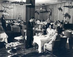 The Hickory Room at the Riviera Hotel and Casino in Las Vegas (1955).  The same year the hotel opened it's doors (April 20, 1955) as the 1st high rise & 9th resort on the Las Vegas Strip.