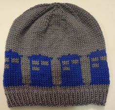 Ravelry: Tardis Beanie by Morgan Kenia Andrews