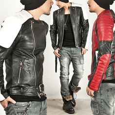 ★SOLD-OUT★ PADDED SEAMING SHOULDER CONTRAST RIDER LEATHER JACKET - 47