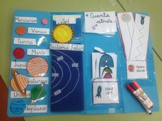 Lapbook ejemplos Book Projects, Science Projects, School Projects, Projects For Kids, Planets Preschool, Preschool Math, In Kindergarten, Lap Book Templates, Planet Project