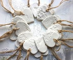 Salt Dough Crafts, Salt Dough Ornaments, Clay Ornaments, Diy Christmas Ornaments, Christmas Ideas, Homemade Ornaments, Homemade Christmas, Salt Dough Christmas Decorations, Christmas Pasta