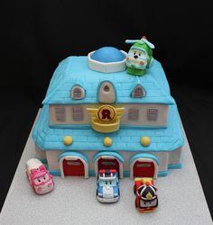 Baby Boy Birthday, 5th Birthday, Birthday Cake, Robocar Poli, First Birthdays, Fondant, Projects To Try, Pasta, Toddler Girls