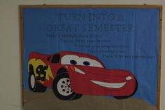 Cars Bulletin board for the start of a new semester