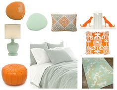 Seafoam and Tangerine Color Combo