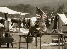 Civil War Reenactment at Tom's Farms 2013. The Encampment