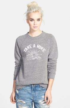 Free shipping and returns on Sub_Urban Riot 'Take a Hike' Raglan Sweatshirt at Nordstrom.com. A charming, outdoorsy graphic is inscribed on the front of a raglan-sleeve sweatshirt knit from a fleecy cotton blend.