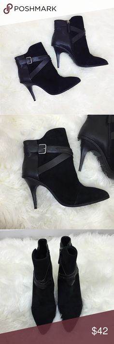 Joes Jeans Leather Booties Size 9. Black leather booties with a 4 inch slick heel. Joes. EUC Joe's Jeans Shoes Ankle Boots & Booties