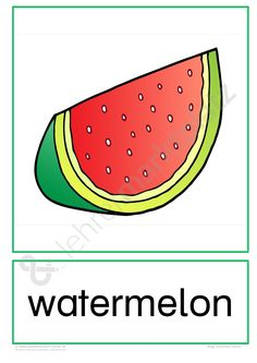 """Flashcards Obst """"Fruits"""" Would you like to share, sell or buy digital teaching materials y Fruit Shakes, Inventions, Vocabulary, Watermelon, Learning, Number Cakes, English, Board, English Lessons"""