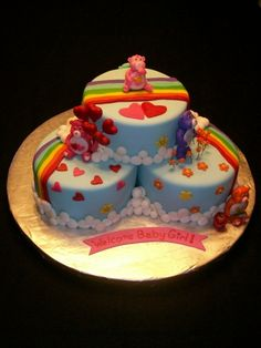 Care Bear Baby Shower Cake