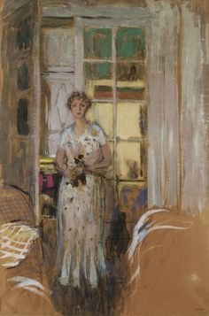 "Edouard Vuillard (1868 - 1940) - ""Thérèse Dorny"" 140 by 93cm, Painted in 1933."
