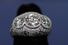 Belle Epoque Diamond Ring, ca. 1915  $30,000 Auction  –  $50,000 Auction