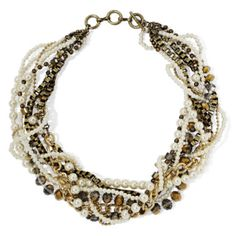 Mixit™ Simulated Pearl Mixed Metal 8-Row Twist Necklace  found at @JCPenney