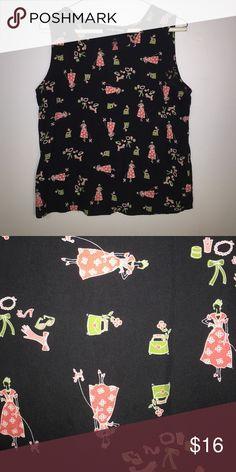 Sag Horbor silk shirt Great print, feels great on Sag Harbor Tops Camisoles