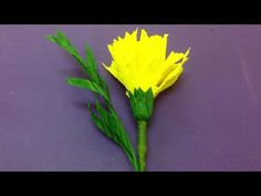 Tutorial: Make a crepe paper flower | origami flowers folding instructions | DIY-Paper Crafts - YouTube