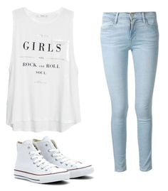 """Untitled #26"" by ashariacalmes133 on Polyvore featuring MANGO, Frame Denim and Converse"