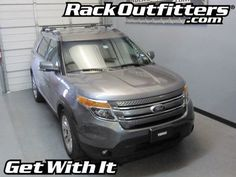 Ford Explorer Thule Crossroad SQUARE BAR Roof Rack '11-'14*