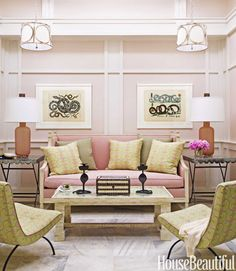 Hillary Thomas ID- now that is a pretty room.. not a pink fan, but with all the vanilla- it works for me.