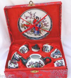 Vintage Miniature Child Japanese Tea Set. I am not sure I would let my kids play with this. It is too pretty !
