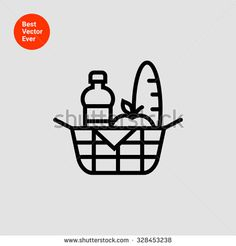 Find Picnic Basket Icon stock images in HD and millions of other royalty-free stock photos, illustrations and vectors in the Shutterstock collection. Icon Design, Logo Design, Graphic Design, Milk Art, Store Icon, Picnic Mat, Communication Art, Geometry Art, Ramadan