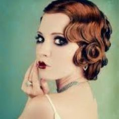 So obsessed with this 20s look. Love the hair and makeup. Love it.