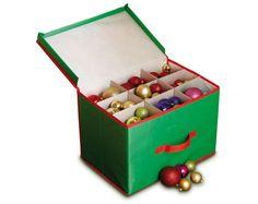 Whitmor 61292688 Christmas Ornament Storage Box  Christmas