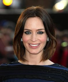 Emily Blunt (photo courtesy of Tiffany & Co's Facebook page) - If I ever decide to cut my hair short, I'm going with this style/length.