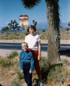 Family photo while the government tests nukes without warning the public re: radiation!