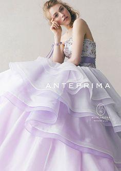 White & purple dress