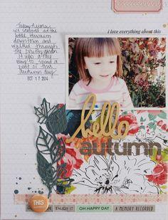 #papercraft #scrapbook #layout. Hello Autumn by Michelle Wedertz
