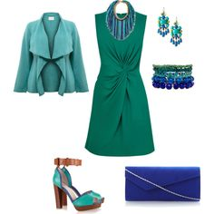 """Greenblue"" by lovemybodyru on Polyvore"