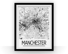 24 Best Manchester Map images | Manchester map, Manchester england ...