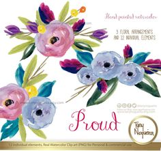 Proud ! Love what I do! https://www.etsy.com/mx/listing/279675416/proud-clipart-acuarela-png-flores-marcos #bouquet #acquarelle #watercolour #pngclipart #weddingflowes #cards #invitations #diy #weddingshower #savethedate