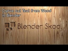 Carve a text from a Wooden Plank in Blender - YouTube