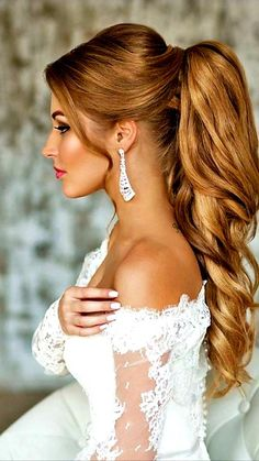 Hochzeit Frisuren für Hingucker Looks, Frisuren für Hochzeit , Hochzeit Frisuren Wedding Ponytail Hairstyles, Wedding Hairstyles For Women, Up Hairstyles, Hairstyle Ideas, Evening Hairstyles, Party Hairstyles For Long Hair, Perfect Hairstyle, Updos Hairstyle, Fashion Hairstyles