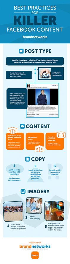 Best Practices for Killer Facebook Content [INFOGRAPHIC]
