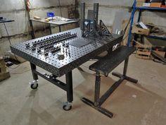 Metal Welding, Welding Jig, Welding Bench, Welding Table Diy, Welding Cart, Diy Table, Table Saw Reviews, Fixture Table, Cnc Plasma Table