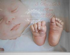 3D Baby Hand, Fuß und Po Gipsabdrücke im Bilderrahmen - Atelier Stolzenburg