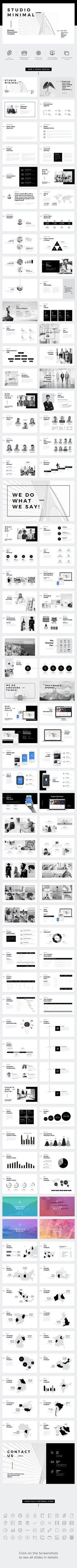 22 best minimalist powerpoint presentation templates images in 2018