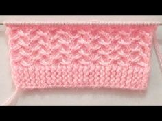 Pretty Knitting Stitch Pattern For Babies Sweater/Cardigan - YouTube