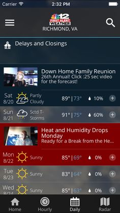 WLOX Weather iosappsappNews App, Ipod touch, Game design