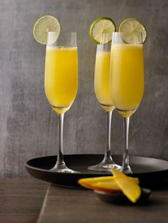 Sekt-Cocktail Siam - mit Mango und Limette #Rezept