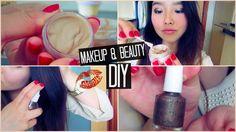 DIY: Nail Polish, Foundation, Hairspray, Concealer and Powder Foundation. Easy Diy Makeup, Powder Foundation, Hairspray, Beauty Essentials, Concealer, I Am Awesome, Nail Polish, Nails, Ongles