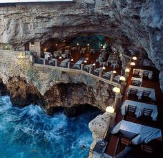 Puglia - Itália: Grotta Palazzesse Restaurante