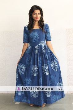 for Order Whatsapp to 09016708808 or 08238377255 Cotton Gowns, Cotton Long Dress, Long Gown Dress, Frock Dress, Long Frock, Silk Kurti Designs, Blouse Designs, Simple Long Dress, Frock Models