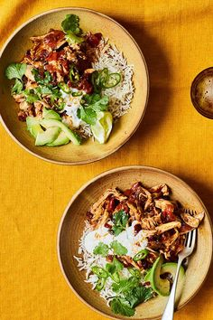 This Mexican chicken stew, made with mild and fruity ancho chillies, is cooked like a pot roast but for longer than usual until meltingly tender. It makes for fab burritos, or ladle it over rice with a few Tex-Mex trimmings.
