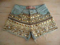 #Short#customizado#pedrinhas#josii
