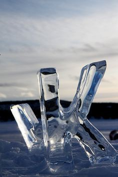 Ice letters K & W by redspiderfish, via Flickr