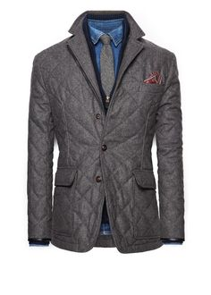 Herringbone husky jacket -  Men | MANGO Man USA